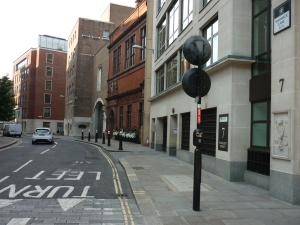 Junction of Newgate Street and Warwick Lane