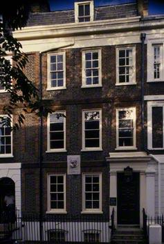 The Exterior the house in Cheyne Row built in 1708 home to Thomas Carlyle 1834-1881